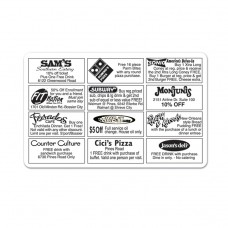 1 color/1 side Discount Card