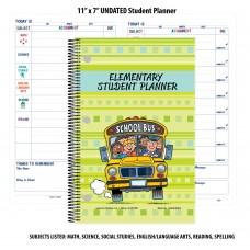 "11"" x 7"" UNDATED Elementary Student Planners"