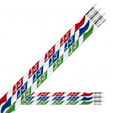 Red, Blue, and Green foil over Silver Glitz Honor Roll Pencils - HR