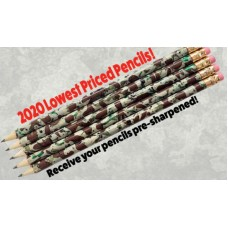 Camo Pencils Pre-Sharpened