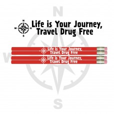 Pencils - Say No To Drugs - Red Ribbon Week - Travel Drug Free