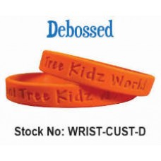 Custom Wristbands Debossed