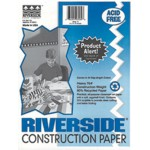 Construction Paper - White - 12