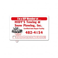 1 color/1 side Punch Card