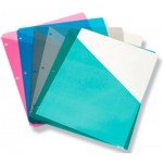 Poly Two-Sided Slanted Binder Pockets