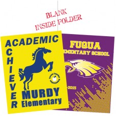School Name Folder - 2 color