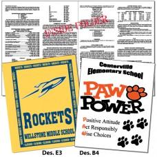 School Rule Folder - 2 color