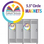 "Magnet - Catholic School Week -  5.5"" Diameter"