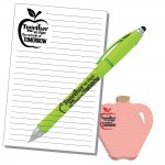 Teacher Appreciation Scratch Pad, BIC Stylus Pen & Apple Post-It Notes