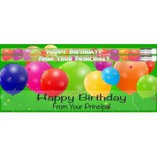 Cards - Happy Birthday From Your Principal Card with Pencil