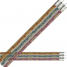 Maroon, Blue, and Purple foil over Gold foil Excellent Work Pencils