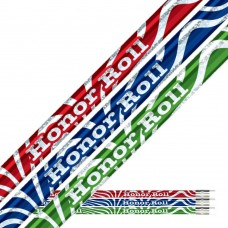 Red, Blue, Green foil over Silver Glitz Honor Roll Pencils - HR