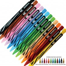 Zebra Triangular Mechanical Pencils (Colored Lead)