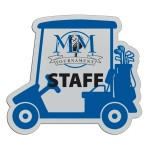 "Plastic Sports Badge - 3"" Golf Cart"