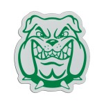 "Plastic Sports Badge - 3"" Bulldog Head"